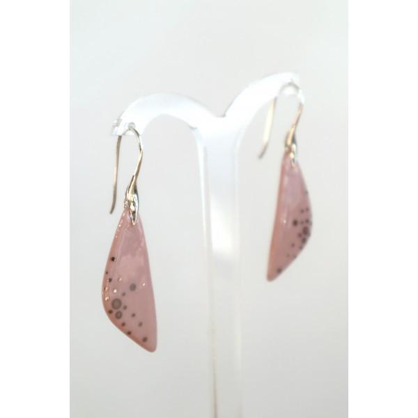 Boucles d'oreilles créoles coquelicots