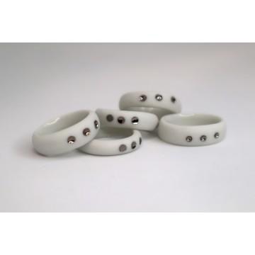 Bague porcelaine et platine